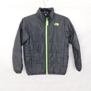 North Face Puffer Jacket Gray Youth 10-12